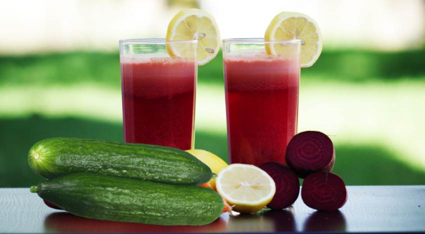 Beetroot and cucumber